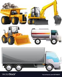 Different Kinds Of Tractors And Truck Royalty Free Vector