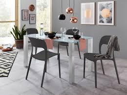 essgruppe mit glastisch und 4 stühlen esszimmerstühle