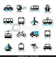 Transportation Icon Clip Art Black And White