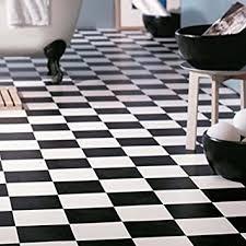 kissen vinyl bodenbelag tabelle lino schachbrett schwarz und weiß küche badezimmer fliesen effekt rolle mehrere größen erhältlich weiß