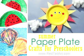 Arts And Crafts For Toddlers Using Paper Plates Craft With Plate Summer Preschool Delightful Easy