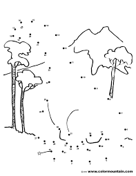 Dinosaur Dot To Coloring Page