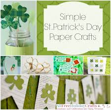 20 Simple St Patricks Day Paper Crafts