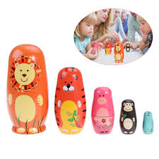 Amazoncom TOYMYTOY Nesting Dolls Five Cute Russian Dolls Toy Gift