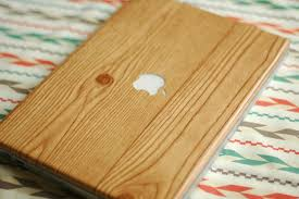 DIY Wood Grain Laptop Wrap 4 Steps With Pictures