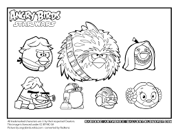 Stylish Design Printable Angry Birds Star Wars Coloring Pages