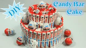 bar cake torte aus schokoriegeln süßigkeiten