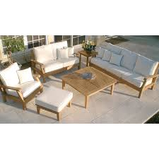 Outdoor Deep Seating Sectional Sofa by Royal Teak Miami Reclining Outdoor Sofa Hayneedle