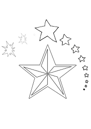Star Coloring Sheets For Christmas