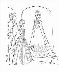 Free Download Frozen Coloring Page