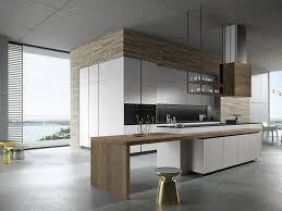 cuisine avec ilot central et coin repas îlot de cuisine et espace de repas intégré pour créer un coin