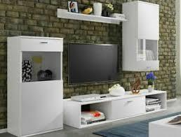 details zu wohnwand weiß wohnzimmer mediaschrank hängeschrank tv schrank lowboard m24