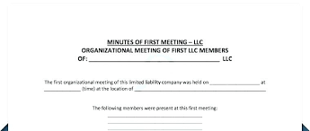 Annual Meeting Minutes Template Partnership Agreement Free Download Shareholder Sole Sample