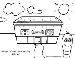 Worm Coloring Pages Rubbermaid House Mi Es Su