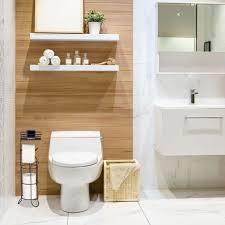 toilettenpapierhalter stehend mit ablage 3 rollen klopapier modern metall hbt 57 5x18 5x17 5 cm schwarz