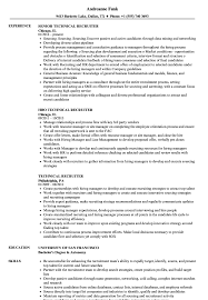 Download Technical Recruiter Resume Sample As Image File
