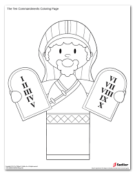 Ten Commandments Coloring Picture Stunning 10 Pages