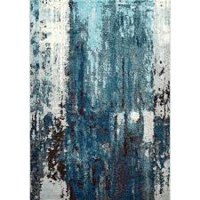 nuLOOM Abstract Haydee Blue 5 ft x 8 ft Area Rug ECCR22A 508