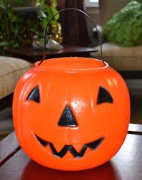 Halloween Blow Molds Vintage by 1980 Empire Blow Mold Plastic Orange Jack O Lantern Pumpkin Candy