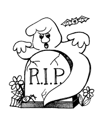 Ghost Coloring Pages 9