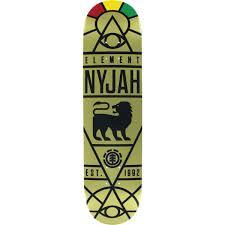 element skateboards nyjah huston providence gold skateboard deck