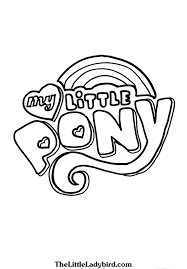 My Little Pony Logo Coloring Page