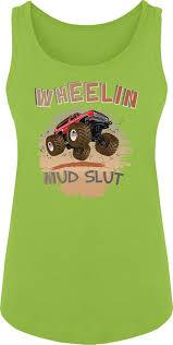 Amazon.com: BSW Women's Wheelin Mud Slut Mudding 4x4 Truck Tank ...