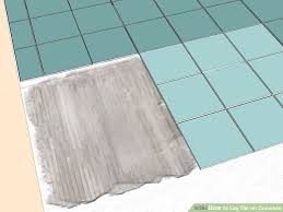 Preparing Concrete Subfloor For Tile by How To Lay Tile On Concrete With Pictures Wikihow