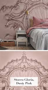 stucco gloria dusty pink tapete schlafzimmer