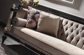casa padrino luxus barock samt sofa beige schwarz silber antik gold 250 x 95 x h 80 cm prunkvolles wohnzimmer sofa im barockstil