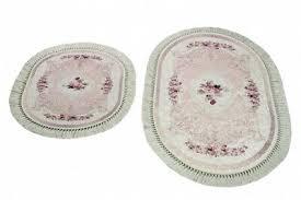 badematte wc teppich set 2 teilig mit blumen in rosa ebay