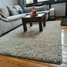 teppich hochflor langflor creme 160 x 230 cm kibek