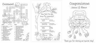 Free Wedding Coloring Activity Book