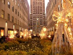 Rockefeller Plaza Christmas Tree by Christmas Tree And Angels In Rockefeller Center New York City 2