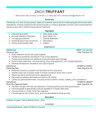 Massage Therapy Resume Example Examples And Therapist Sample Samples Applied Behavior Analysis Salon