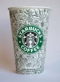 Pen And Ink On A Starbucks Cup