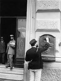 Italy post office in Naples probably in the 1910s