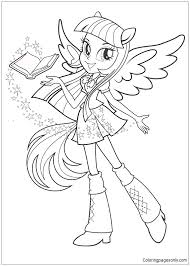 My Little Pony Equestria Girls Coloring Page Free Pages