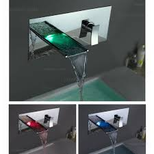 Wall Mounted Waterfall Faucets Bathroom by Koko Led Wall Mounted Waterfall Bathroom Faucet