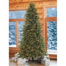 9 Ft Pre Lit Slim Christmas Tree by 9 U0027 Artificial Pre Lit Christmas Tree