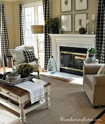 Primitive Living Room Curtains by Plaid Curtains For Living Room U2013 Teawing Co
