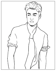 Full Size Of Coloring Pagegood Looking Justin Bieber Print Pages 78 With Additional Large