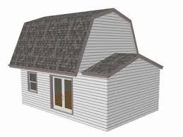 Free Storage Shed Plans 16x20 by G455 Gambrel 16 X 20 Shed Plan Free House Plan Reviews