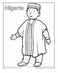 Nigerian Traditional Clothing Coloring Page