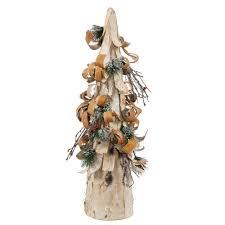 Vienna Twig Christmas Tree Sale by 24 Inch Birch Bark Berry Pine Artificial Cone Christmas Tree P137724