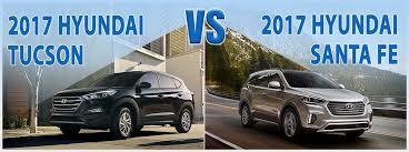 pare New 2017 Hyundai Tucson vs 2017 Santa Fe