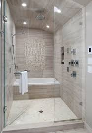 contemporary master bathroom with handheld shower specialty