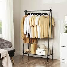 kleiderständer aus stahl garderobenständer mit kleiderstange ablage im unteren bereich schlicht schlafzimmer flur dachboden keller 92 5 x 33 5