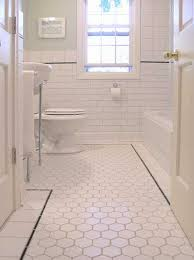 Rustic Bathroom Flooring Ideas Bold Cream Tile Floor Wooden Vanity
