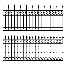 Halloween Cemetery Fence Finials by 17513848 Iron Fence Vector Illustration Gate Jpg Jpeg Image 1300